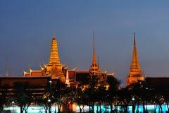 Wat phra kaew at twilight. Stock Photo