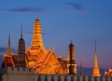 Wat Phra Kaew in twilight Stock Photo