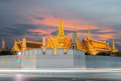 Wat Phra Kaew at twilight in Bangkok, Thailand Royalty Free Stock Photography