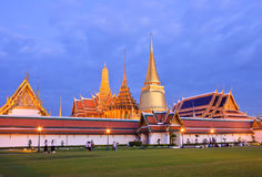 Wat Phra Kaew in twilight scene Stock Photo