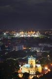 Wat Phra Kaew, uroczysty pałac i Phra Sumen fort, gruntowa ocena Bangkok, Tajlandia Obraz Royalty Free
