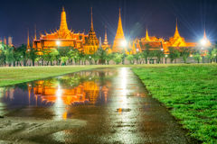 Wat phra kaew. View from Sanam Luang go Wat Phra Kaew Stock Photography