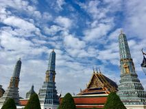 Wat Phra Kaew. Landmark in Thailand stock photos