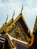 Wat Phra KaewTemple of the Emerald Buddha1. Gold idols statue art religion respect belief church roof Temple of the Emerald Buddha Wat Phra Kaew Stock Images
