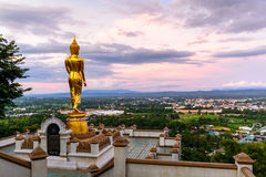 Wat Phra That Kao Noi with beautiful sky Royalty Free Stock Photography