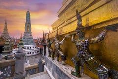 Wat Phra Keaw в Бангкоке, Таиланде стоковое изображение rf