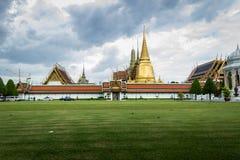 Wat Phra Keaw in bewolkte dag Royalty-vrije Stock Afbeelding