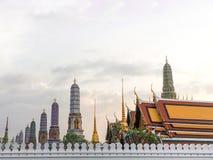 Wat Phra Keaw, grande palazzo, tempio a Bangkok, Tailandia Immagini Stock