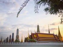 Wat Phra Keaw, grande palazzo, tempio a Bangkok, Tailandia Fotografia Stock