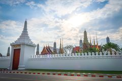 Wat Phra Keaw, grande palazzo, tempio a Bangkok, Tailandia Fotografia Stock Libera da Diritti