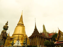 Wat Phra Keaw. Wat Pra Keaw in Bangkok Thailand Stock Photo