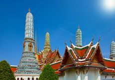 Wat Phra Keaw, Uroczysty pałac, główny turystyczny atraction w Bangkok, Tajlandia Obraz Royalty Free