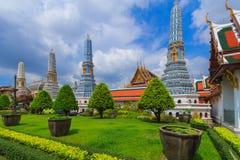 Wat Phra Keo Bangkok Tailandia Fotografia Stock Libera da Diritti