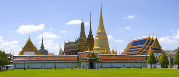 Wat Phra Keow Panorama Stock Images