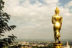 Wat Phra That Khao Noi Nan Province, Thailand Arkivbilder