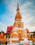 Wat Phra który Sri koon, świątynia, piękna pagoda, Nakhon Phanom, Tajlandia Obrazy Stock