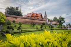 Wat Phra That Lampang Luang. The ancient temple in Thailand. Wat Phra That Lampang Luang. The ancient temple in Lampang district, north of Thailand. Landscape stock photo