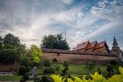 Wat Phra That Lampang Luang. The ancient temple in Thailand. Wat Phra That Lampang Luang. The ancient temple in Lampang district, north of Thailand. Landscape royalty free stock image