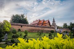 Wat Phra That Lampang Luang. The ancient temple in Thailand. Wat Phra That Lampang Luang. The ancient temple in Lampang district, north of Thailand. Landscape stock image