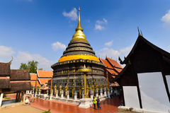 Wat Phra That Lampang Luang. One of the most exquisite temples of Thailand Royalty Free Stock Photos