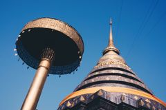 Wat Phra That Lampang Luang. A paradigm of temple building of Lanna stock photography