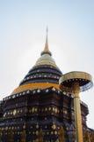 Wat Phra That Lampang Luang sikt Arkivfoto