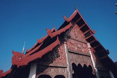 Wat Phra That Lampang Luang. A paradigm of temple building of Lanna royalty free stock photography