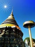 Wat Phra That Lampang Luang y la mayoría del templo significativo Lampang fotografía de archivo
