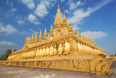 Wat Phra That Luang Buddhist temple in Vientiane, Laos Royalty Free Stock Photo