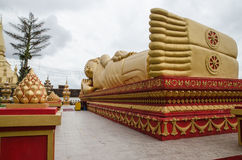 Wat Phra That Luang in Vientiane. Buddhist temple Royalty Free Stock Image