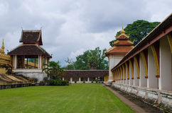 Wat Phra That Luang in Vientiane. Buddhist temple Royalty Free Stock Photo