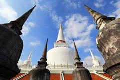 Wat Phra Mahathat寺庙, Nakhon Si Thammarat,泰国 免版税库存图片
