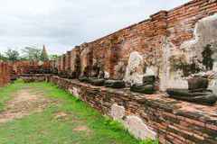 Wat Phra Mahathat Zdjęcie Royalty Free