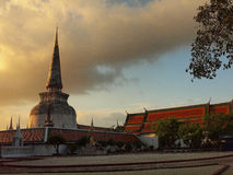 Wat Phra Mahathat Stock Afbeeldingen