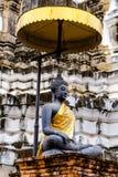 Wat Phra Mahathat alla Tailandia Fotografia Stock Libera da Diritti