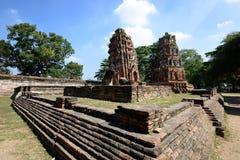 Wat Phra Mahathat, Ayutthaya Lizenzfreie Stockfotos