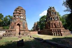 Wat Phra Mahathat, Ayutthaya Lizenzfreies Stockfoto