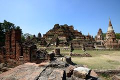 Wat Phra Mahathat, Ayutthaya Стоковое Изображение RF