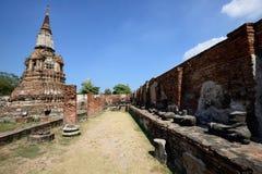 Wat Phra Mahathat, Ayutthaya Стоковое Изображение