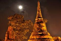 Wat Phra Mahathat bij nacht Royalty-vrije Stock Foto