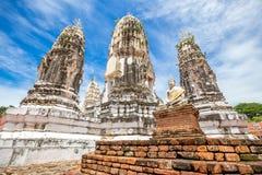 Wat Phra Mahathat, Buddyjska świątynia, Tajlandia Obraz Royalty Free