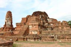 Wat Phra Mahathat en parc historique d'Ayutthaya, photographie stock