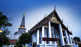 Wat Phra Mahathat (висок), Nakhon Si Thammarat, Таиланд. Стоковое фото RF