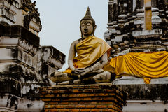 Wat Phra Mahathat på Thailand Arkivfoton