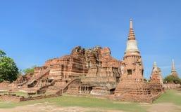Wat Phra Mahathat ruins in Ayuthaya historic park, Thailand Royalty Free Stock Photography