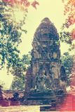 Wat Phra Mahathat temple in Vintage style Royalty Free Stock Images