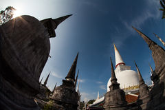 Stupa, Wat Phra Mahathat, Wat Nakhon Si Thammaratm, Thailand. The Phra Mahathat Woramaha Wiharn temple with its huge chedi (pagoda) is one of the most IMPORTANT Royalty Free Stock Images