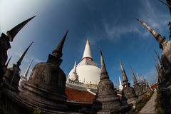 Stupa, Wat Phra Mahathat, Wat Nakhon Si Thammaratm, Thailand. The Phra Mahathat Woramaha Wiharn temple with its huge chedi (pagoda) is one of the most IMPORTANT Royalty Free Stock Photography