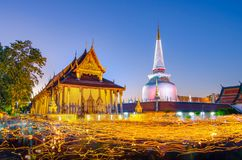 Wat Phra Mahathat Woramahawihan Nakhon Sri Thammarat Thailand fotografia stock