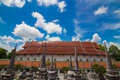 Wat Phra Mahathat Woramahawihan Nakorsrithammarat Thailand royaltyfri bild
